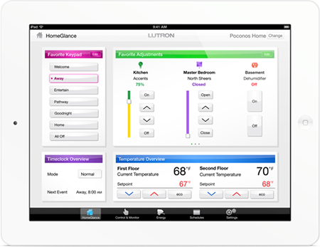 iPad lutron interface